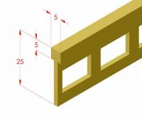 Natural polishing brass joint